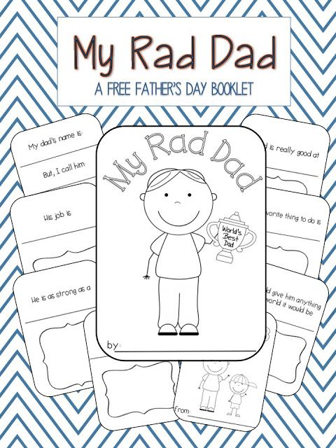 My Rad Dad: A FREE Father's Day Booklet