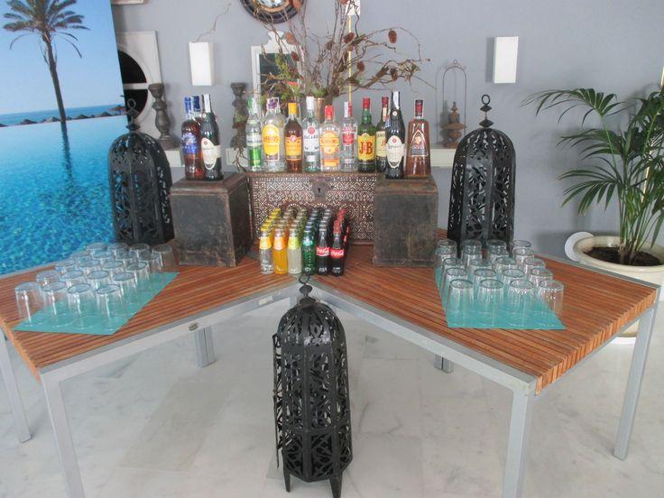 Example of free bar for Wedding Reception, Estella Del Mar Beach Club Marbella