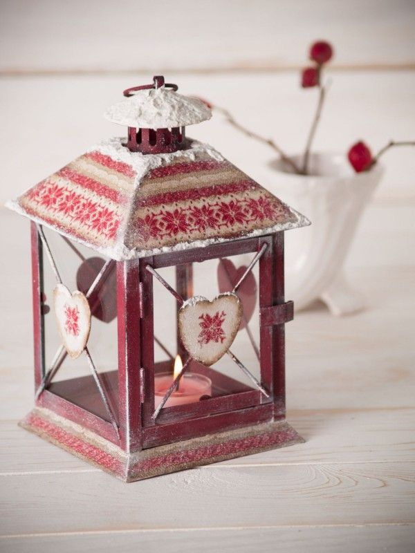 Handmade lantern christmas decor