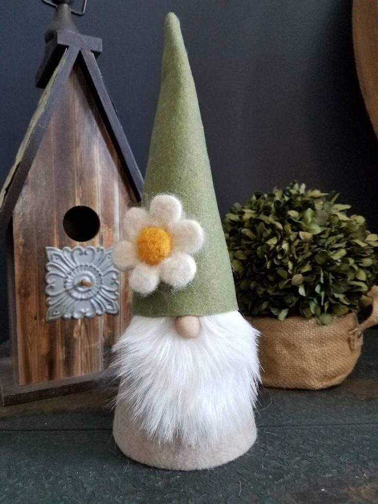 Spring Scandinavian Flower Garden Gnome by HappyStitches12 on Etsy https://www.etsy.com/listing/576282754/spring-scandinavian-flower-garden-gnome