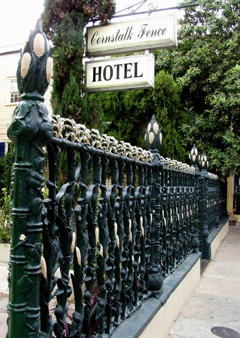The Cornstalk Fence Hotel on Royal Street in New Orleans French Quarter.