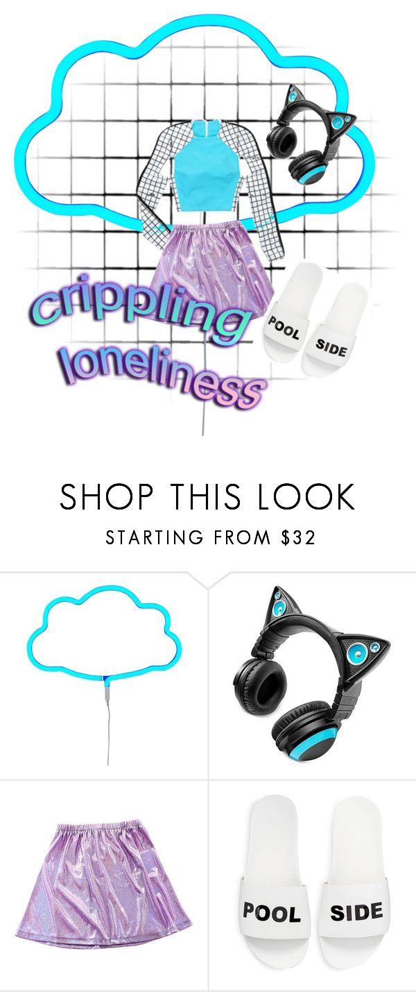"""uber kitten"" by fade-me on Polyvore featuring A Little Lovely Company, Brookstone and Schutz"