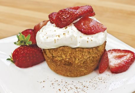 No diet fail here! Perfectly portioned Strawberry Oatmeal Cake is a breakfast, snack or dessert option. #AldiFresh