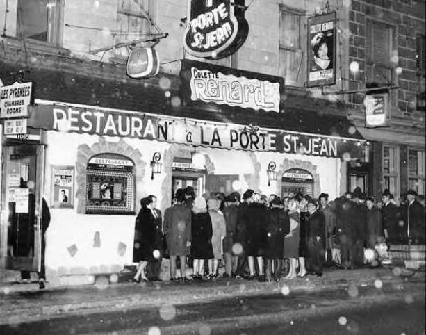Restaurant et Boite à Chanson à la Porte Saint-Jean (propriétaire Gérard Lévesque)