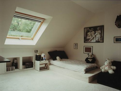 Chambre lumi re chambres and chambres mansard es on pinterest - Chambres mansardees ...
