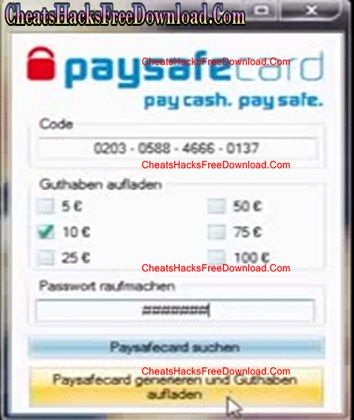 paysafe card free