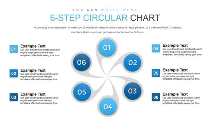6 step circular keynote charts step chart in 2020