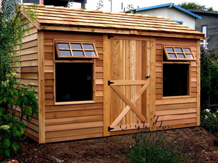 Simple Prefab Sheds Design ~ http://lovelybuilding.com/design-of-the-prefab-sheds-for-yard/