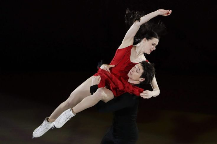 Tessa Virtue and Scott Moir of Canada perform during the figure skating exhibition gala in the Gangneung Ice Arena at the 2018 Winter Olympics in Gangneung, South Korea, Sunday, Feb. 25, 2018.