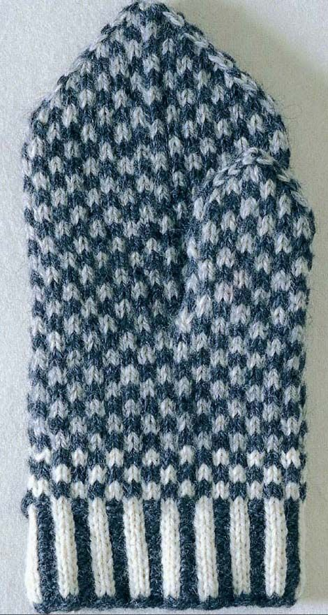 Traditional Swedish knitted mittens