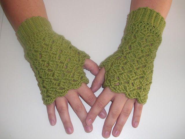 Mejores 58 imágenes de mitones en Pinterest | Punto de crochet ...