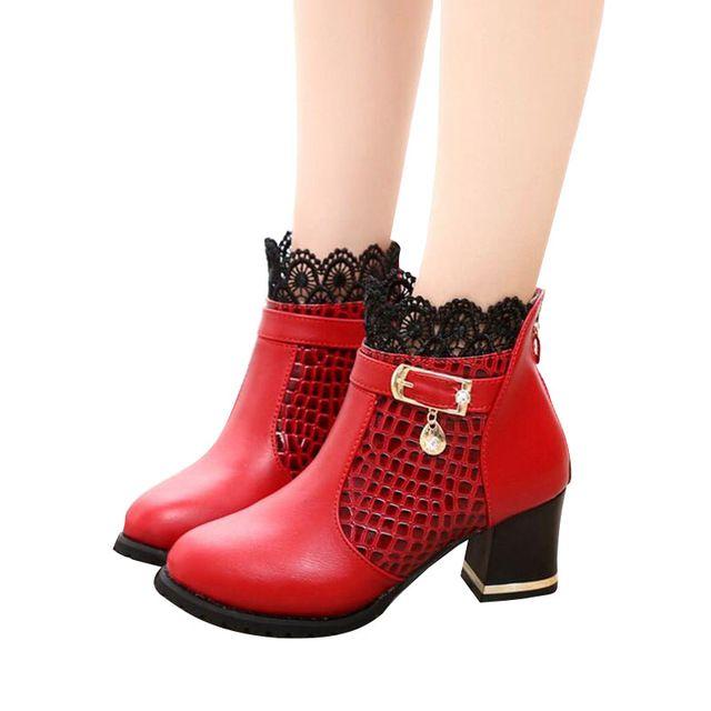 HEE GRAN Zip Mujeres Botas de Tacón Grueso Zapatos de Plataforma Otoño Invierno Hebilla Botas Sexy Para Las Mujeres Botines de Equitación XWX4963 en Botines de Zapatos en AliExpress.com | Alibaba Group