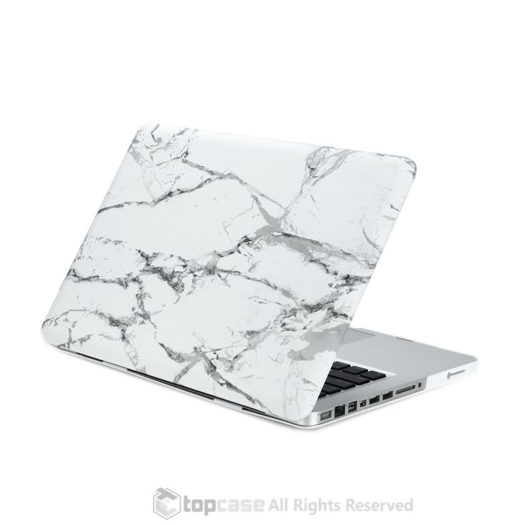 """White Marble Rubberized Hard Case for MacBook Pro 13"""""""