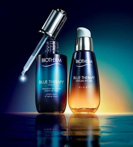 review blog : gamme soin et serum BLUE THERAPY par BIOTHERM