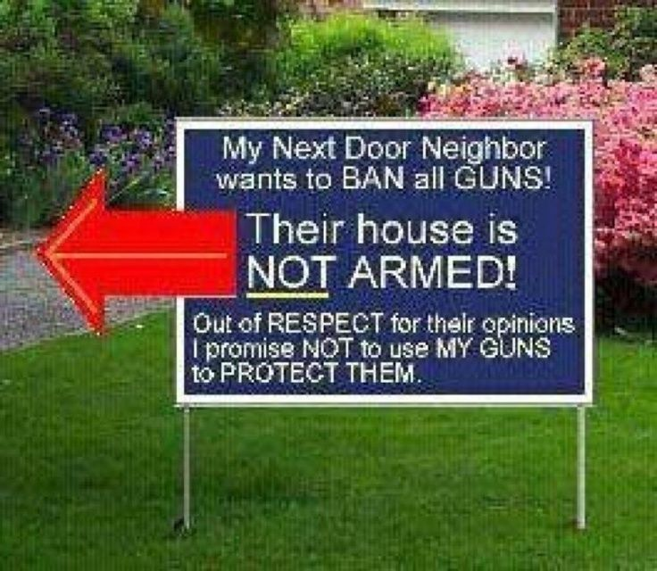 banning the use of firearms So let's forget banning guns completely, and banning cars for that matter   safety and use regulations key locks and other anti-theft devices.
