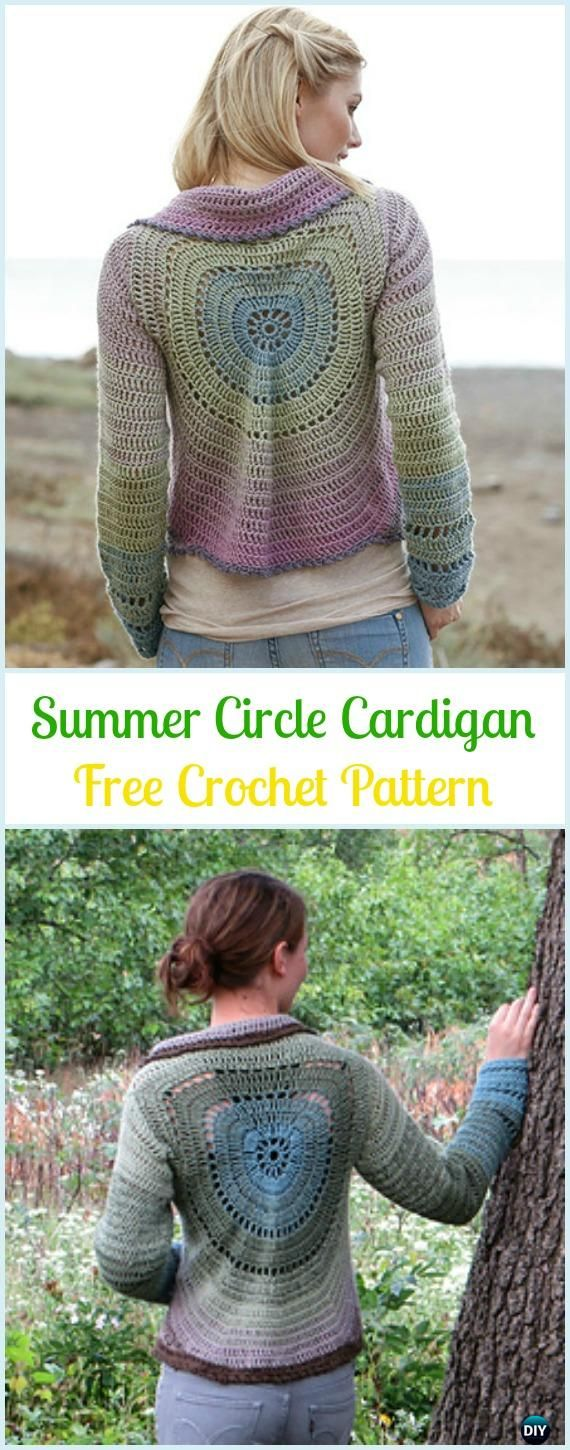 Crochet Summer Circle Cardigan Free Pattern - #Crochet; Circle Vest & Sweater Jacket #Cardigan; Free Patterns