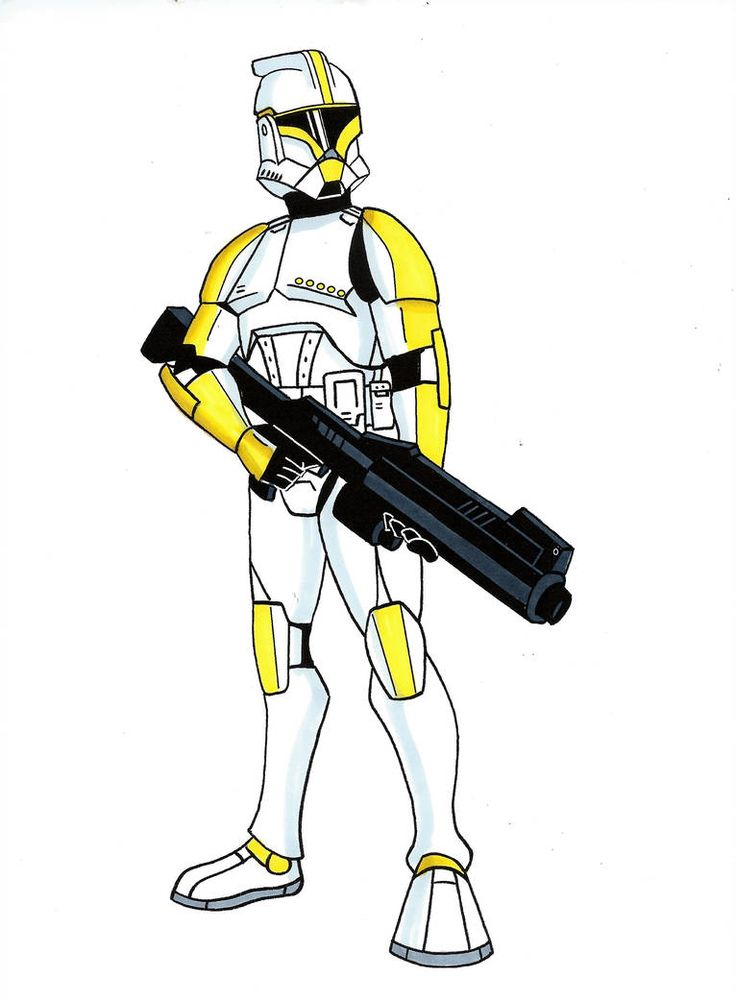 Clone Commander by Spartan055 Star wars drawings, Star