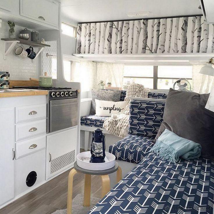 cool 51 Best Hacks and Makeover RV Camper Van Interior Designhttps://homearchitectur.com/2017/04/20/51-best-hacks-makeover-rv-camper-van-interior-design/
