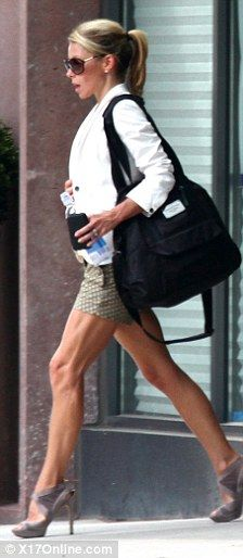 kelly ripa was spotted showing off her toned legs as she left the gym in tribeca.