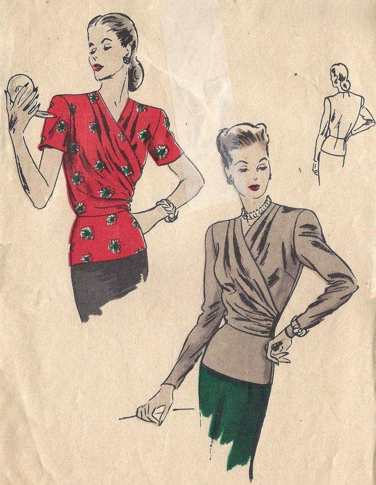 104 besten 1940s Skirts and Blouses Bilder auf Pinterest | 1940er ...