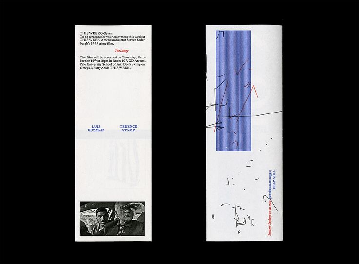 This Week 07 (booklet series)Designed by Ryan Gerald Nelson (MFA 2015)2014