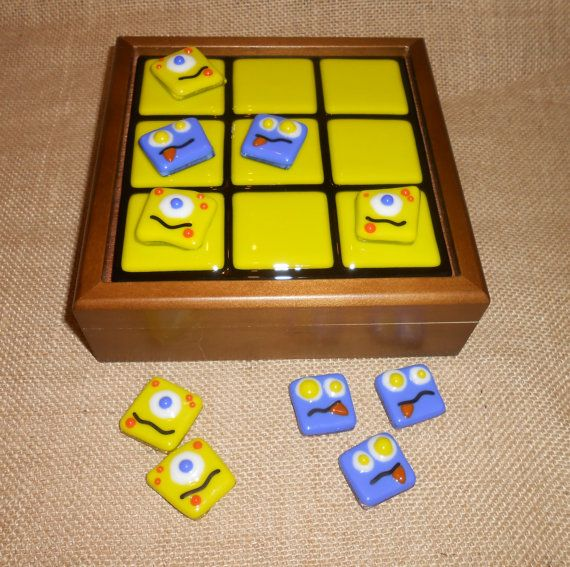 Fused Glass Sci-Fi Alien Tic Tac Toe Game - by Sunshine Art Glass                                                                                                                                                     More