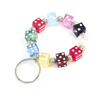 Bunco Bracelet Keychain http://www.initialoutfitters.net/10996/: Keychain Www Initialoutfit, Bunco Keychain, Keychains Lanyards, Gift Ideas, Bunco Bracelet, Crafts Keychains, Craft Ideas, Dice Bracelet Keychain