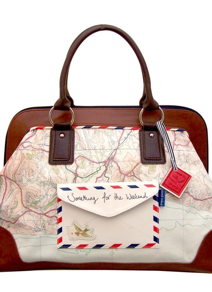 Multi Shoulder Bag - Vintage Travel Inspired Map Bag | UsTrendy