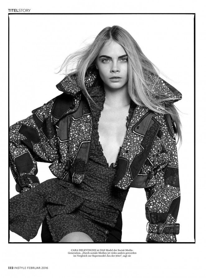 Cara Delevingne by David Bailey for InStyle Germany February 2016