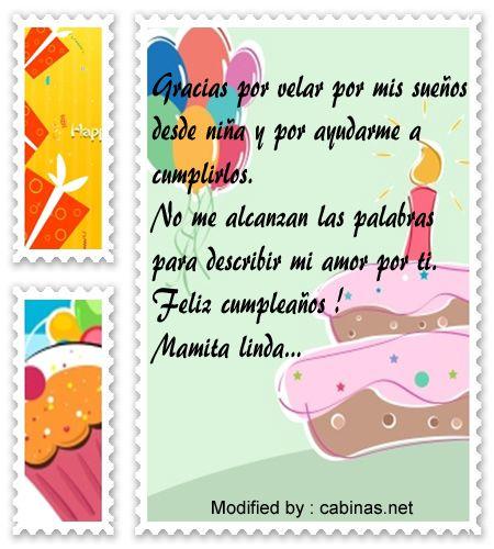 1000 ideas sobre tarjetas de cumplea os de mam en - Que regalar a tu madre por su cumpleanos ...