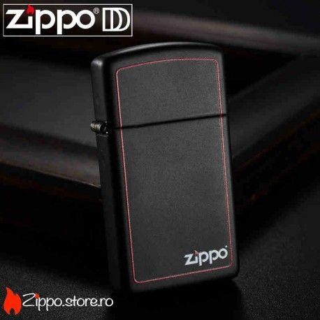 Zippo Black Matte/Red Border Slim are un finisaj negru mat, ce este scos din anonimat printr-o margine rosie indrazneata si logo-ul Zippo ce iese in evidenta, aducandu-ti aminte de calitatea de exceptie a brichetei tale.