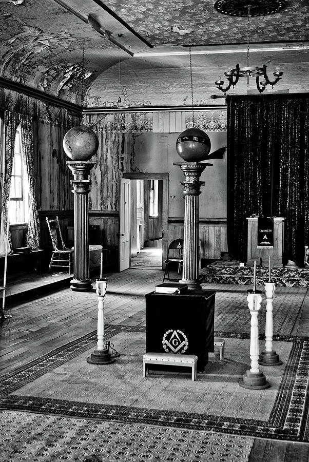 ... City Masonic Hall Photograph - Silver City Masonic Hall Fine Art Print.
