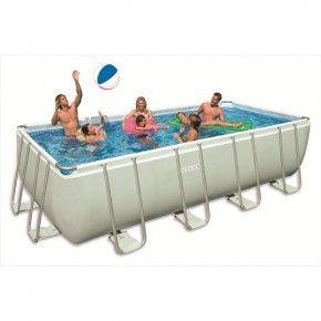 Intex Ultra Frame zwembad rechthoek 549 x 274 x 132 cm inclusief zandfilterpomp en extra accessoires (28352GN)