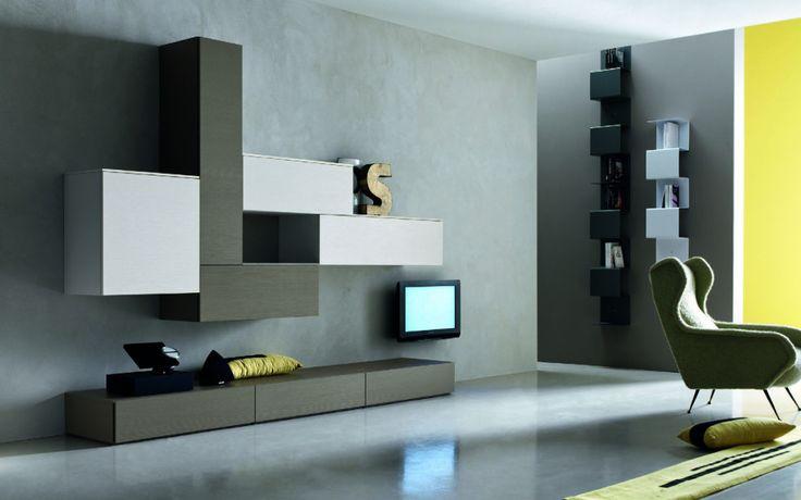 Mobile soggiorno componibile design moderno in essenza for Arredamento soggiorno moderno