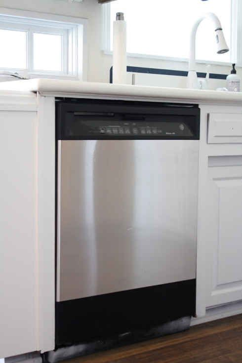 Give your appliances an expensive looking makeover using stainless steel contact paper.