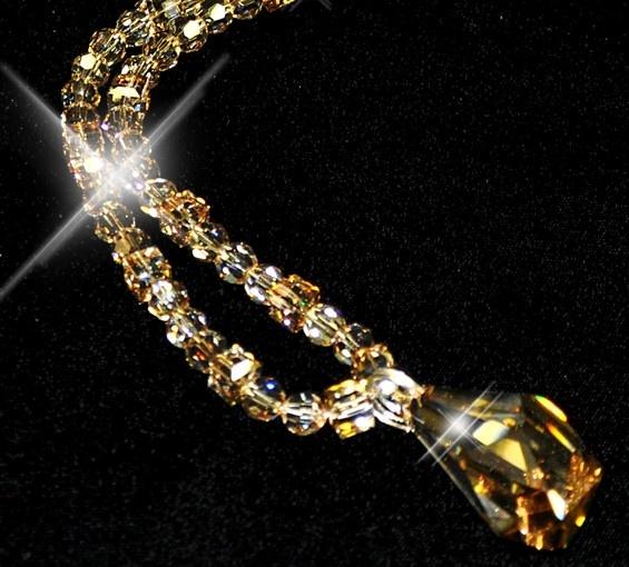 Opera length Swarovski necklace withe sterling silver