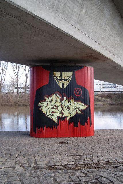 Anonymous StreetArt Vendetta Mural in Bamberg by ~OpGraffiti on deviantART