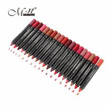 US $23.74 19Pcs/lot MENOW Makeup Matte Kiss Proof Lipstick Long Lasting Effect Powdery Soft Waterproof Matte Lipstick Lip Pencil Crayon. Aliexpress product