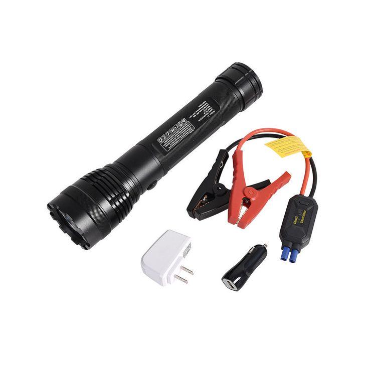 5100 Mah Power Bank Emergency Torch LED Flashlight 12-volt Starter Kit