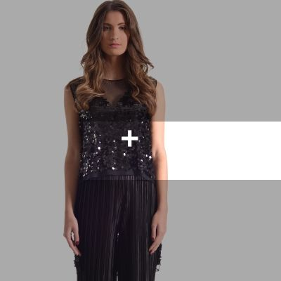 TOPS Asymmetrical Sequin Top #Asymmetrical #Sequin #Top +PARTY TOP +SLEEVELESS +SEQUIN +CLEAN BY SPECIALIST +MADE IN GREECE