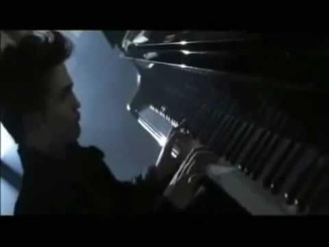 Edward Cullen playing piano