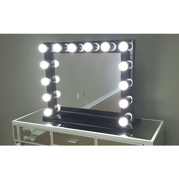 Hollywood lighted vanity mirror 25 dimmable grand hollywood lighted vanity mirror w dual outlets 309 liked on polyvore mozeypictures