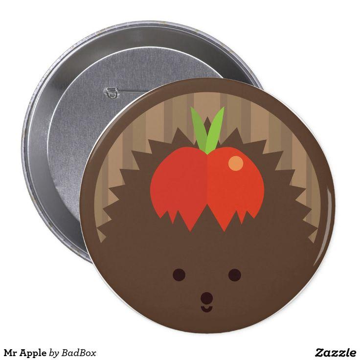 Mr Apple 10 Cm Round Badge