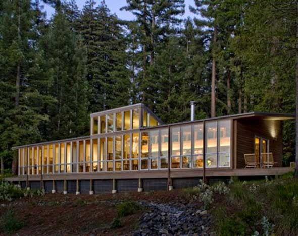 Casa Entre Sequóias, Sebastopol Villa, Turnbull Architects, Californie.
