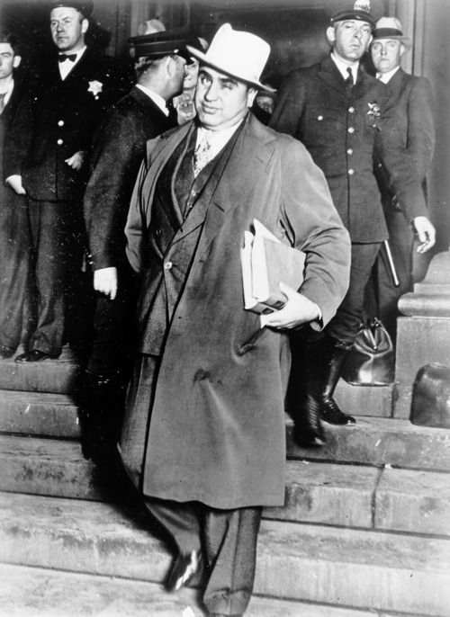 Al Capone: Known as Scarface, he was the most famous criminal in the world; as a bootlegger and gangster, who was responsible for the St.Valentine's Day Massacre (and he went to prison not for murder, but for tax evasion...)
