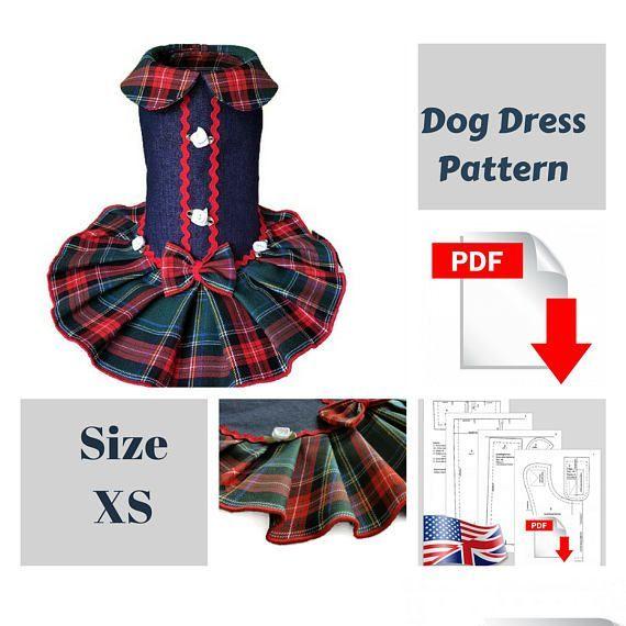 Dog clothes pattern PDF girl dog clothes Small dog pattern (scheduled via http://www.tailwindapp.com?utm_source=pinterest&utm_medium=twpin)