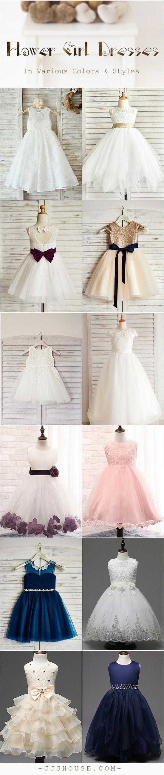 Flower Girl Dresses In Various Colors & Styles Choose one! #flowergirldress