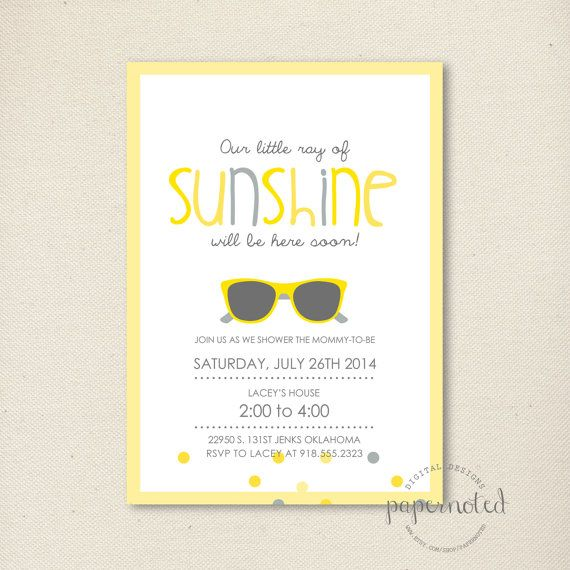Sunshine Baby Shower Invitation // You are my by papernoted, $15.00  Invite 2