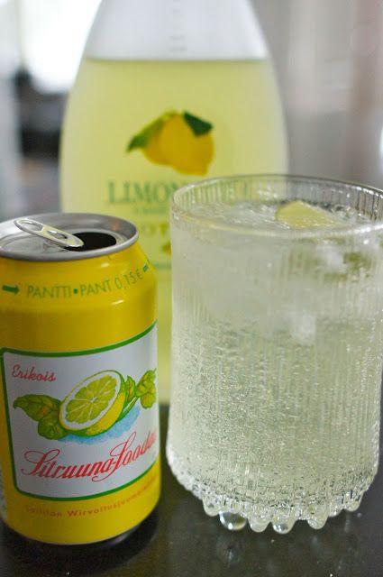 Limoncello sitruunainen drinkki juomat sprite vodka