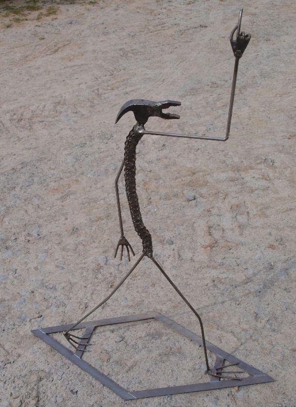 biker sculpture